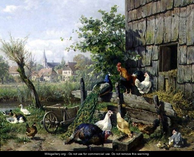 The Farmyard - Carl Jutz