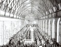 Garter Feast in St Georges Hall Windsor in the time of Charles II - Wenceslaus Hollar