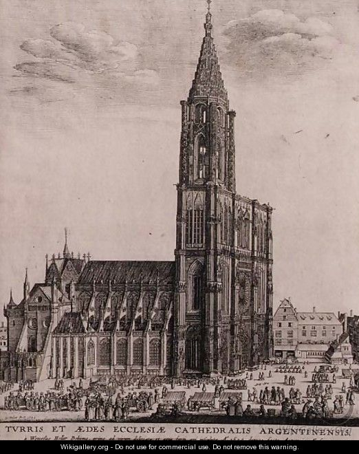 Strasbourg Cathedral - Wenceslaus Hollar
