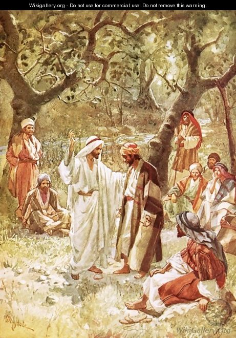 Jesus asking his disciples whom the people say he is - William Brassey Hole