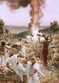 Elijahs sacrifice at mount Carmel - William Brassey Hole