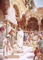 Jesus preaching in the Temple - William Brassey Hole