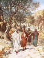 Jesus and his disciples travelling into Galilee - William Brassey Hole