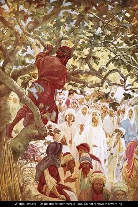 Jesus summoning Zacchaeus the publican to entertain him at his house - William Brassey Hole