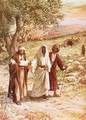 Jesus appearing to two disciples on the road to Emmaus - William Brassey Hole