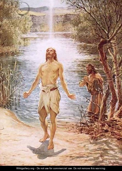 Christ baptised by John the Baptist - William Brassey Hole