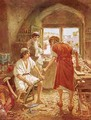 Christ working with Joseph as a carpenter - William Brassey Hole