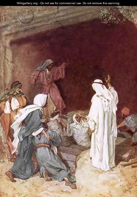 Jesus raising Lazarus from the dead - William Brassey Hole