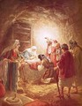 The shepherds finding the infant Christ lying in a manger - William Brassey Hole