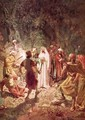 Judas betraying Jesus with a kiss in the garden of Gethsemane - William Brassey Hole