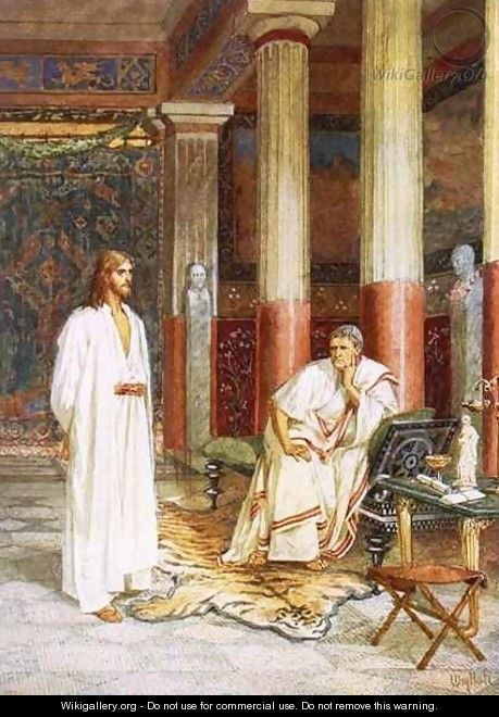 Jesus being interviewed privately by Pontius Pilate - William Brassey Hole
