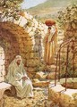 Jesus resting by Jacobs Well - William Brassey Hole