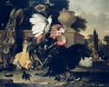 Fight between a Rooster and a Turkey - Melchior de Hondecoeter