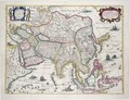 General map including Arabia Japan the Korean peninsula and the greater part of the Indonesian archipelago - Hendrik I Hondius