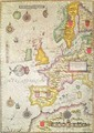 A Generall carde and description of the sea coastes of Europe and navigation in this book conteyned - Jodocus Hondius