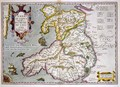 Map of Wales - Jodocus Hondius