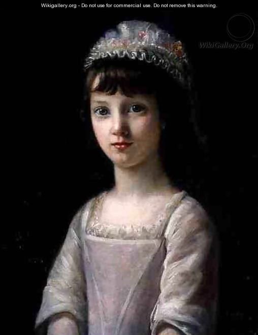 Portrait of a Girl in a Cap - John Camillus Hone