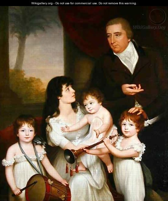Portrait of William Fairlie and his Family - Robert Home