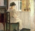 Girl Reading in a Sunlit Room - Carl Vilhelm Holsoe