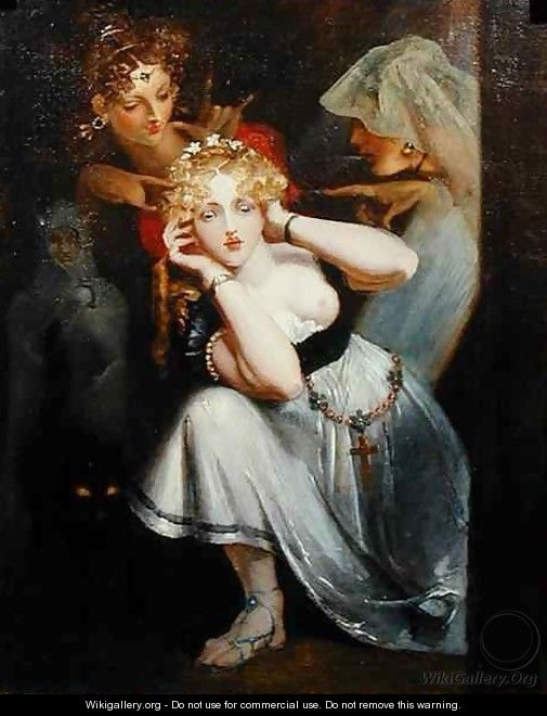 Bertalda Frightened by Apparitions - Theodor Von Holst