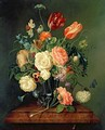 Still Life with Mixed Flowers - Josef Holstayn