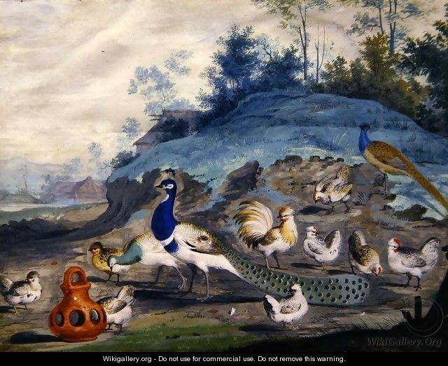 Exotic birds in a picturesque landscape 2 - Pieter the Younger Holsteyn