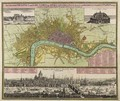 Map and Prospect of London - Johann Baptist Homann