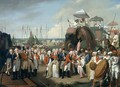 The reception of the Mysorean Hostage Princes by Lieutenant General Lord Cornwallis 1738-1805 - Robert Home