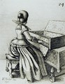 Woman Playing at a Keyboard - Wenceslaus Hollar