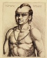 Virginian Indian from Hollars Foreign Portraits - Wenceslaus Hollar