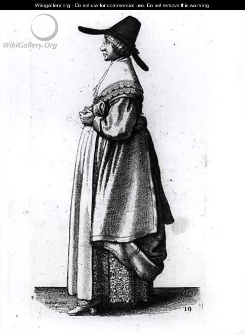 Merchants Wife - Wenceslaus Hollar