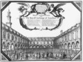 The Inside View of the Royal Exchange London - Wenceslaus Hollar
