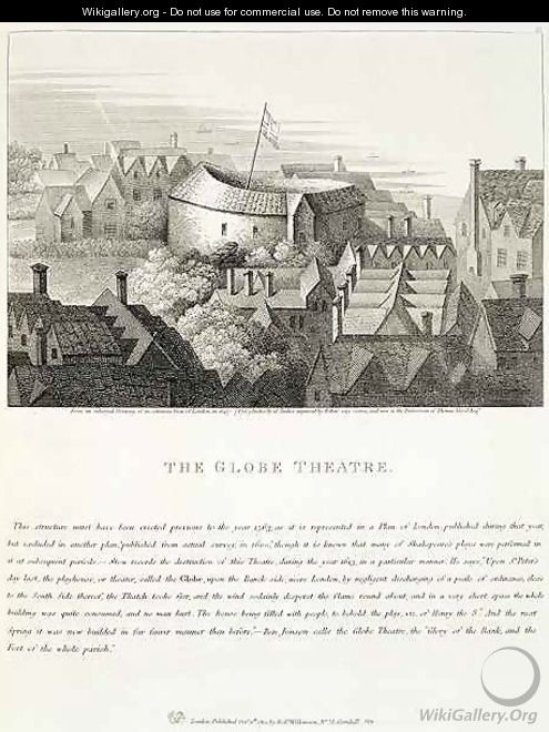 The Globe Theatre - (after) Hollar, Wenceslaus