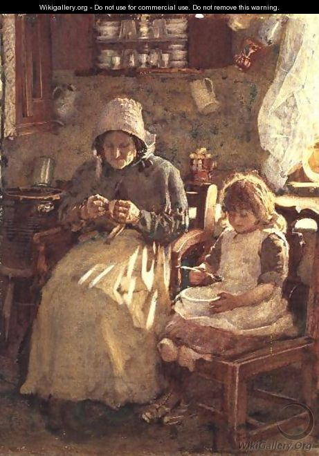Grandmother and Child Yorkshire - Henry Silkstone Hopwood