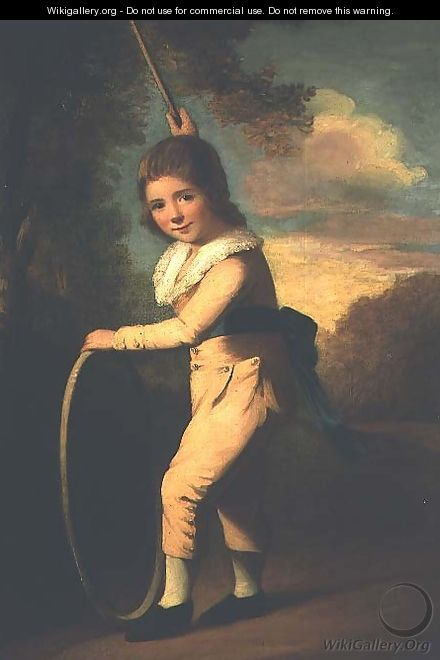 Portrait of Master William Morgan with a hoop and stick - John Hoppner