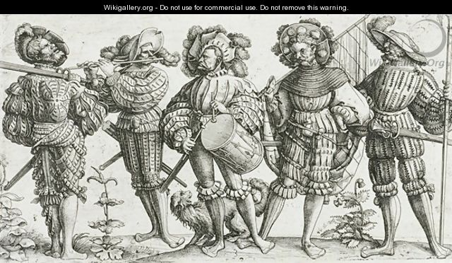 Five mercenaries in the Thirty Years War 1518-48 - Daniel Hopfer