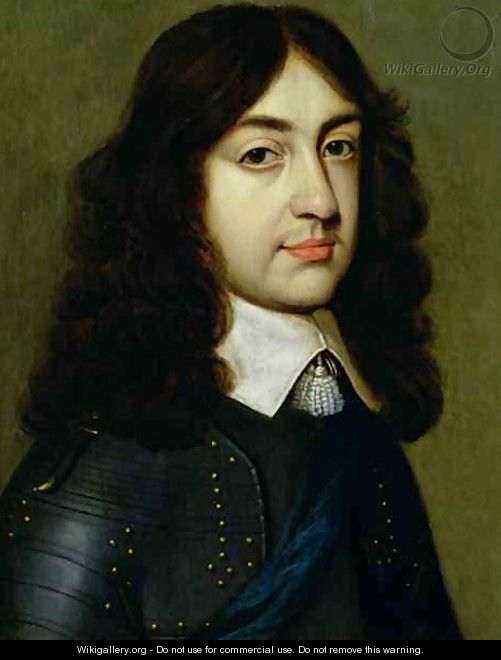 Portrait of Charles II 1630-85 - (after) Honthorst, Gerrit van