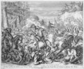 Vienna Print Cycle Polish Cavalry Beginning Battle in the Vienna forest - Romeyn de Hooghe