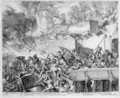 Vienna Print Cycle Explosion of a Mine and Countermine Raid on the Turks - Romeyn de Hooghe