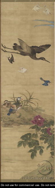 Birds and Flowers Qing Dynasty 2 - Wu Huan