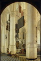 Interior of the Nieuwe Kerk in Delft with the Tomb of William the Silent - Gerrit Houckgeest