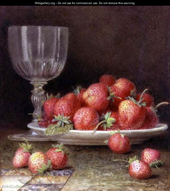Strawberries and a Glass - William B. Hough