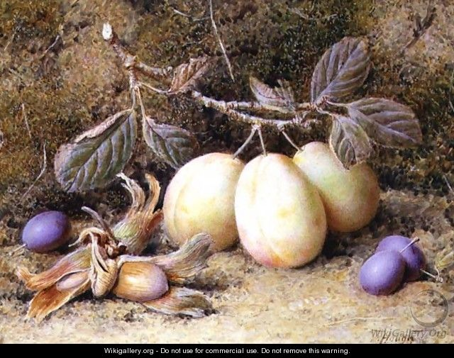 Still Life with plums and nuts - William B. Hough