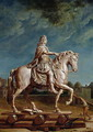 Transporting the Equestrian Statue of Louis XIV from the Workshop at the Convent of the Capucines in 1669 - René-Antoine Houasse