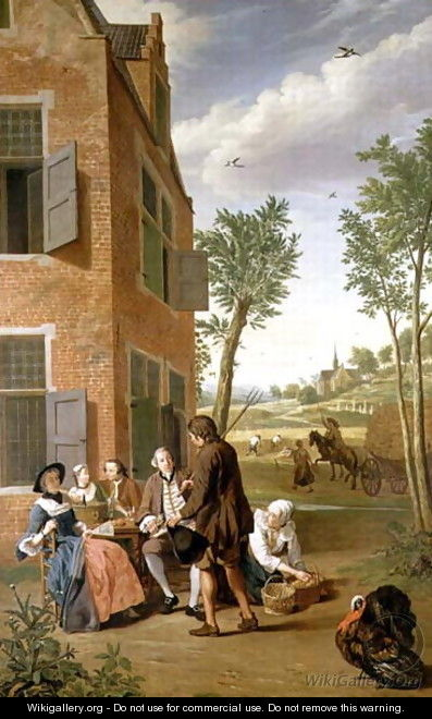 Figures in a Landscape - Jan Jozef, the Younger Horemans