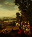 An elegant hawking party resting in a park - Jan Jozef, the Younger Horemans
