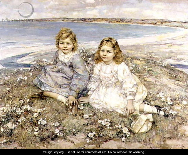 The Daughters of Bertram Roberts - Edward Atkinson Hornel