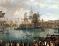 The Port of Brest with a view of shipping 1794 - Jean-Francois Hue