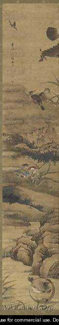 Birds and Flowers Qing Dynasty Kangxi Period 9 - Wu Huan