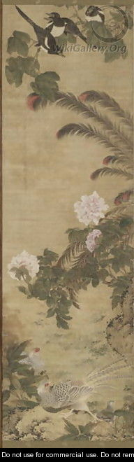 Birds and Flowers Qing Dynasty Kangxi Period 2 - Wu Huan